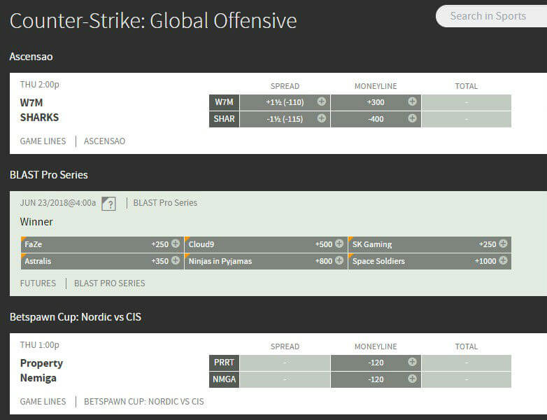 Bovada Sports Review - Some of the Best CSGO Markets Available