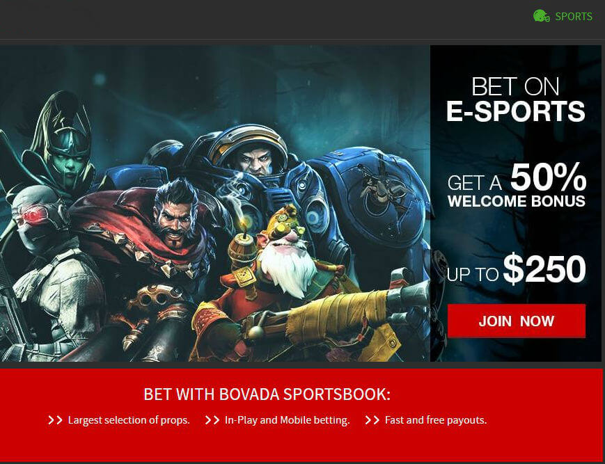 Bovada E-Sports betting offers