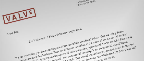 Valve issues cease-and-desist notices