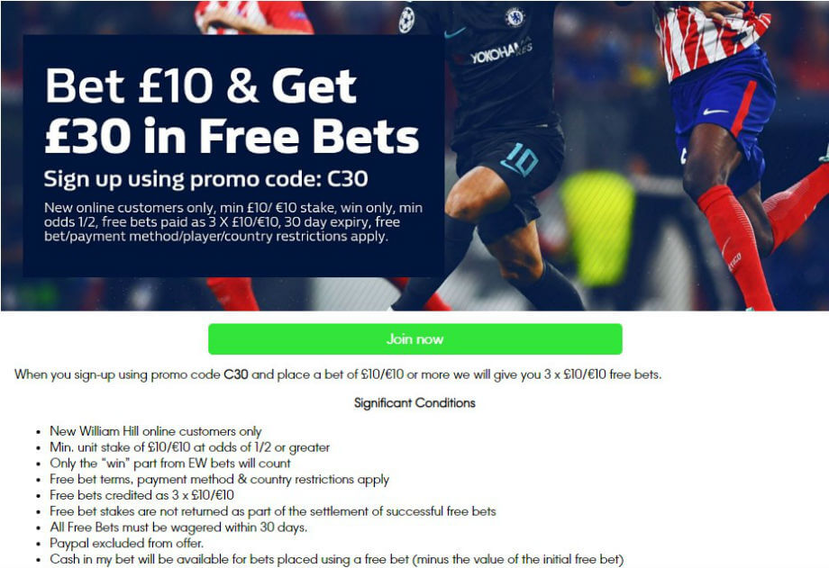 Sign-up offer at William Hill